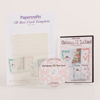Robert Addams Christmas 3D Box Card CD-Rom & Template-994785