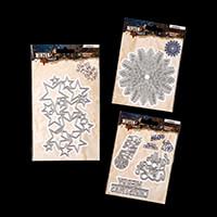 Luv Crafts Set of 3 Winter Trails Embellishment Dies-995242
