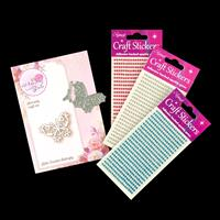 Wild Rose Studio Frosted Butterfly Die and Triple Gem Sticker Pac-995430