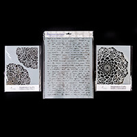 Imagination Crafts 2 x A5 & 1 x A4 Stencils - Mandala Leaf, India-996179