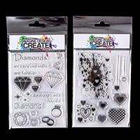 Imagine Design Create - Diamond Love & Heart Mix A6 Stamp Sets - -999337