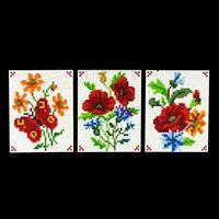 Pixelhobby 3 in 1 Red Flowers Bundle - 3 x Baseplates & 57 Pixels-999485